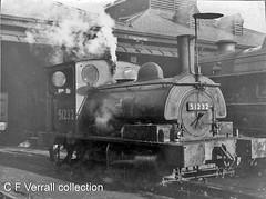 51232 at Bank Hall (pondhopper1) Tags: lancashireandyorkshirerailway lms londonmidlandandscottishrailway 040st 51232 monochrome bankhall enginesheds lyr