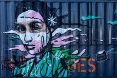 Portrait. Paris, septembre 2019 (Bernard Pichon) Tags: paris france bpi760 streetart conteneur peinture portrait