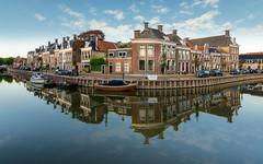 Noordijs - Franekereind (alowlandr) Tags: harlingen friesland netherlands boat house water canal reflection architecture summer holland blue sky dutch houses