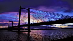 Cable Bridge Sunset (swanny6416) Tags: cable bridge sunset pasco richland kennewick columbia river clouds night shots