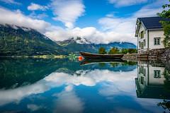 Fagre Stryn (Richard Larssen) Tags: richard richardlarssen larssen landscape lake mirror reflection fjordane sony scandinavia sel1635z sky clouds stryn hjelle oppstryn oppstrynsvatnet boat mountain norway norge norwegen nature a7riii sonyalpha