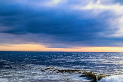 Morning Currents (Tim Pohlhaus) Tags: ocean city atlantic maryland seascape surf sky coast water outside sea blue