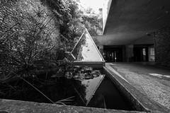 Reflections on brutalism (John fae Fife) Tags: france noiretblanc villaarson bw nb urban brutalist nice ilbw fb blackandwhite xe3 fujifilmx monochrome architecture