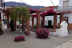 Spanish Village (BrooksieC) Tags: spain españa bougainvillea village pueblo plaza square buganvilla