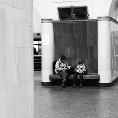 underground. (vtsphotography) Tags: 35mm film 35mmers pentax k1000 ilford bw blackandwhite photography analogue analog family russia moscow 2018 winter december