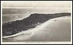 c. 1936 Gowen & Sutton / W.C.A. (Western Canada Airways) Postcard - Aerial View of Savary Island, British Columbia (Treasures from the Past) Tags: gowansuttonco postcard westerncanadaairways vintage savaryisland britishcolumbia bc aerial realphoto