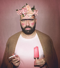 FRIDA que KAHLOr (Mino Cavallanti) Tags: portrait man fridakahlo vision funny fun icecream cigarette beard