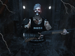 The Sas (raien wolk) Tags: taisce secondlife gay men male dom gun scifi cyberpunk steampunk catwa dura cerberusxing