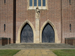 Guildford Cathedral-F9170309 (tony.rummery) Tags: building cathedral christian church congregation door em5mkii faith gathering guildford mft microfourthirds omd olympus path religious worship england unitedkingdom