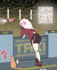Cyberpunk (Dashaaff) Tags: illustration art digital photoshop cyberpunk drawing scifi