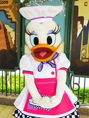 Daisy Duck (meeko_) Tags: daisy duck daisyduck characters disneycharacters showcaseplaza worldshowcase epcot tasteepcot international food wine festival foodandwinefestival internationalfoodandwinefestival themepark walt disney world waltdisneyworld florida