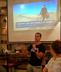 20190918_Speaking about Hacking The New World of Work at Urban Innovation For Good Meetup, part of DLD Innovation Festival Tel Aviv 01 (Assaf Luxembourg) Tags: assaf luxembourg