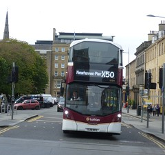 Lothian 1054 departs its stance at Saint Andrew Square, Edinburgh on Cruiselink duty. (calderwoodroy) Tags: scotland bus edinburgh doubledecker lothian lothianbuses saintandrewsquare lothian100 lothianbusescentenary transportforedinburgh edinburghtransport 1054 servicex50 cruiselink x50cruiselink sj18nfe volvo wrightbus b5tl eclipsegemini