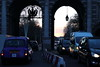 Dusk through Admiralty Arch in London