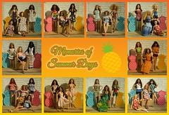 Memories of Summer Days 2019 collage (Mary (Mária)) Tags: summer pineapple barbie barbiestyle summertime summerdays summerdress sun doll dollphotography dollcollector dollphotographer handmade mattel marykorcek tropical ootd fashion
