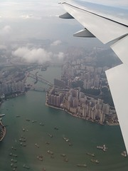 one glance at Hong Kong (Lisa RT.) Tags: airplane view hong kong smartphone camera capture city urban skyscraper buildings asia harbour country sky travel summer lg g6 point perspective
