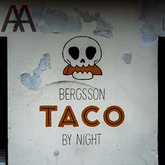 Taco bar logo (Antabus-Antti) Tags: taco logo iceland bergsson night painting art