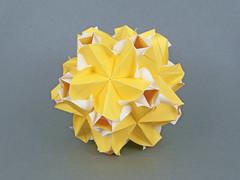 Calypso (masha_losk) Tags: kusudama кусудама origamiwork origamiart foliage origami paper paperfolding modularorigami unitorigami модульноеоригами оригами бумага folded symmetry design handmade art