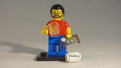 Brick Yourself Custom Lego Minifigure - Man with Beer, Footy & Game Controller