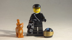 Brick Yourself Custom Lego Minifigure - Happy Driver with Cat & Camera