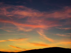 (turgidson) Tags: panasonic lumix dmc g9 panasoniclumixdmcg9 panasonicg9 micro four thirds microfourthirds m43 g lumixg mirrorless olympus m zuiko digital ed 40150mm f28 pro olympusmzuikodigitaled40150mmf28pro telephoto zoom silkypix developer studio 9 silkypixdeveloperstudiopro9 raw sky clouds sunset bray wicklow ireland colour colourful p1023172 mountain hill silhouette blue pink orange september autumn fall cloud