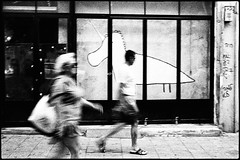 Going upstream (Igor Vdi) Tags: leica m6 summicron 50mm ilford hp5 tel aviv street bw monochrome fotogiornalismo film analogue