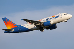 N311NV allegiant A319-111 at KCLE (GeorgeM757) Tags: allegiant a319111 n311nv gezad aircraft aviation airplane airport airbus georgem757 kcle canon70d takeoff