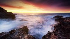 sunrise st jean cap ferrat (milleniumphotographie) Tags: sunrise lever de soleil longexposure poselongue samyang 14mm landscape sonya7 nikond610 d610 blending rock blue sun