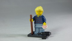 Brick Yourself Custom Lego Minifigure - Happy Lady with Walking Stick, Powerdrill & Lolly