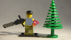 Brick Yourself Custom Lego Minifigure - Nature Lover with Heart & Chainsaw