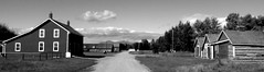 Historic Bar U Ranch Canada (Mr. Happy Face - Peace :)) Tags: art2019 baru horse ranch historic history cans2s sky cloud parkscanada black white bw