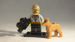 Brick Yourself Custom Lego Minifigure - Film Director with Dog