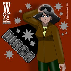 Diana (Kitschensyngk) Tags: characterart characterdesign characterprofile webcomics comics indiecomics words diana vector inkscape