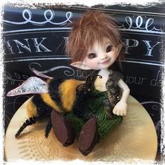 Bee Happy (Jonquil O) Tags: realpuki toki fairyland bjd oakley tiny elf fairy