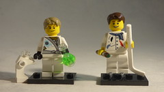 Brick Yourself Custom Lego Minifigures - Ice Hockey Artist & Karate Scientist