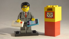 Brick Yourself Custom Lego Minifigure - Happy Professional with Phone, Letter & Mailbox