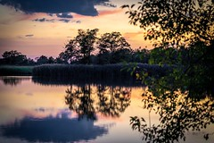 Terrapin Beach State Park (mangoldm) Tags: water pond sunset reflection