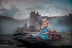 """Once upon a time, there was a little girl with the power to steal hearts."" (MrPessimist) Tags: photoshop tones moody teddybear princess girl people composite beautiful sweet paulcbuff alienbee strobe strobist nikonuser portraitphotography portrait nikond750 nikon"