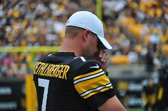 Frustrated Ben (post injury) (Brook-Ward) Tags: brook ward ben big roethlisberger 7 qb quarterback american nfl national football league pittsburgh steelers heinz field
