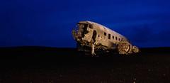Solheimasandur Plane Wreck (ArmyJacket) Tags: solheimasandurplanewreck dc3 plane crash usnavy blacksandbeach nightshots night dark lightpainting nightphotography atlasobscura ruins