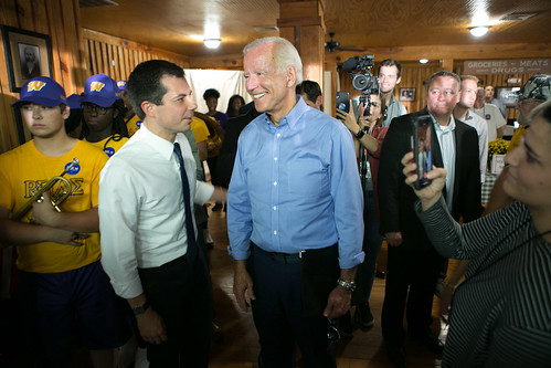 Pete Buttigieg and Joe Biden