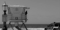 Footloose (Rand Luv'n Life) Tags: odcc our daily challenge little houses lifeguard tower 13 mission beach san diego california outdoor ocean monochrome blackandwhite