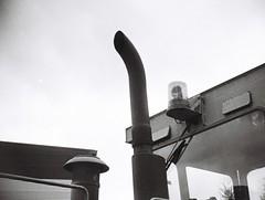 An exhaust pipe (Matthew Paul Argall) Tags: jcpenneyelectronicstrobepocketcamera fixedfocus 110 110film subminiaturefilm lomographyfilm blackandwhite blackandwhitefilm exhaustpipe