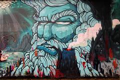 Neptuno by unknown artist (Edgard.V) Tags: brasil brésil brasile brazil rio de janeiro tj streetart urban art arte urbano callejero graffiti graff mural mur muro wall lagoa