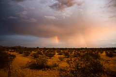 The End of the Bow (ericw43) Tags: rainbows monsoon storm desert southwest arizona pima salt river community