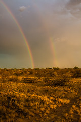 Double Rainbow, What does it mean?!?! (ericw43) Tags: rainbows storms desert arizona pima southwest monsoon double rainbow salt river community
