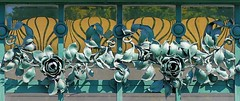 Wien - Stadtbahn Hietzing f (Arnim Schulz) Tags: wien vienna vienne viena secession artnouveau stilefloreale jugendstil austria autriche österreich arquitectura architecture architektur spanien spain belleepoque fer castiron ferdefonte hierro ferro iron eisen gusseisen schmiedeeisen forjado forgé wrought forged art arte kunst baukunst ferronnerie fence liberty textur texture muster textura decoración dekoration deko deco ornament ornamento