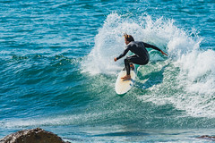 Catching a Wave (Merrillie) Tags: action landscape nature australia sport newsouthwales sea movement nsw blue beach ocean waves avocabeach centralcoast coastal daytime outdoors waterscape water avoca coast seascape