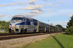 River Grove Coastliner (ujka4) Tags: metra metropolitanrail f59phi 86 rivergrove illinois il commuter