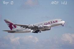 Airbus A380 Qatar Airways (07/02/2019) (Starkillerspotter) Tags: to doha morning departure a380 airbus paris cdg airport sky clouds qatar airways a7apj